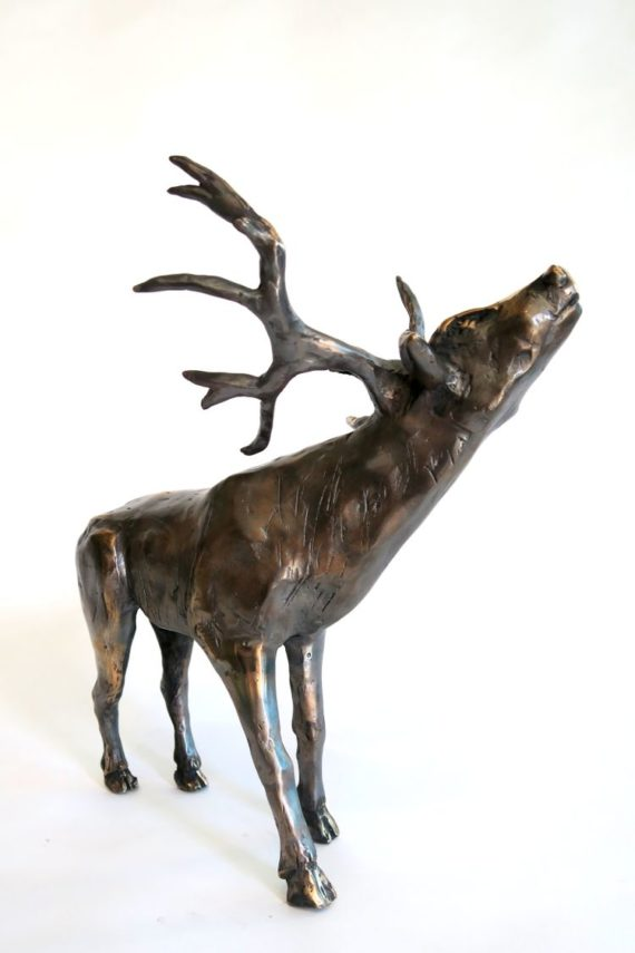 Kaisa Kangro bronze stag, sky is the limit, 2017