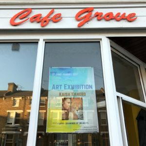 Kaisa Kangro exhibition poster Cafe Grove