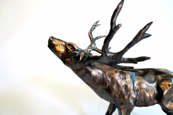 Kaisa Kangro deer in bronze