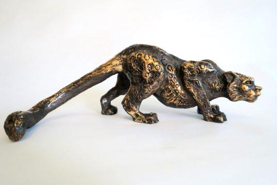 Snow leopard-bronze